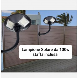 Lampione led solare 100W...