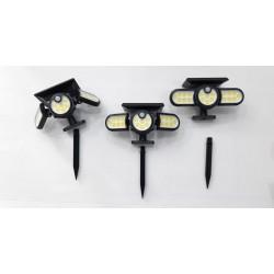lampada solare a 3 teste...